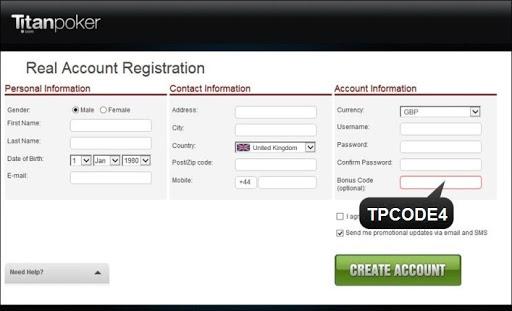 Промокод при регистрации